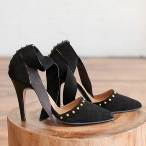 Ulla Johnson Sienna Pumps in Black Suede